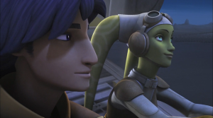 Screenshot from Vision of Hope: Ezra speaking with Hera